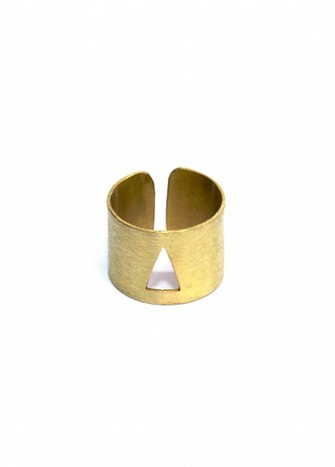 TRIANGULED MIRAGE RING