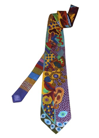 HAND-PAINTED TIE #1