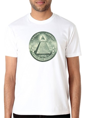 PYRAMID DOLLAR T-SHIRT WHITE