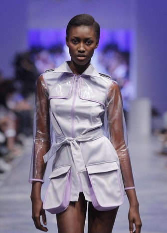 LILAC PLASTIC TRENCH