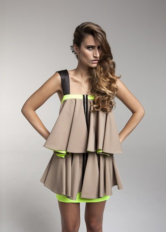 BEIGE CAYI DRESS