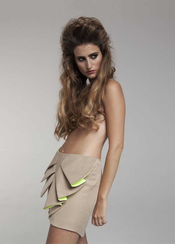 BEIGE BUTTERLY SKIRT