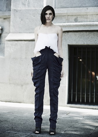 UNSTRUCTURED PANTS