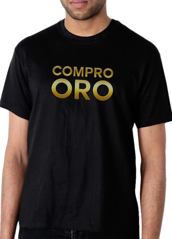 COMPRO ORO T-SHIRT BLACK