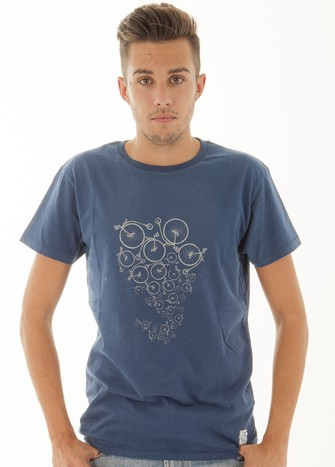 BLUE BI-CYCLE PRINT T-SHIRT