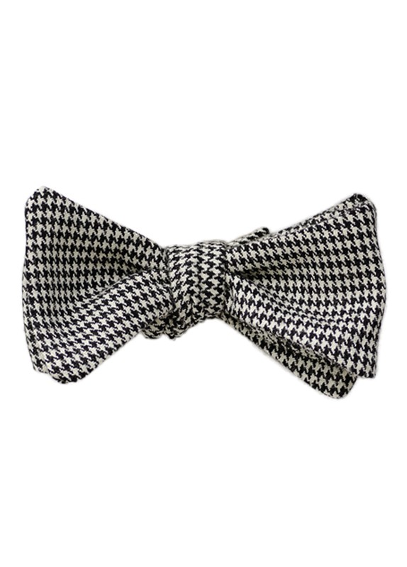 HOUNDSTOOTH SELF-TIE