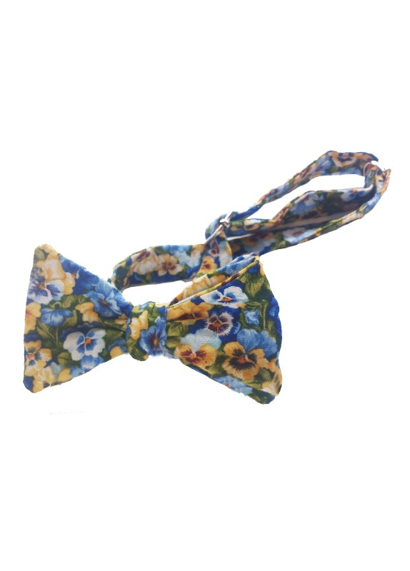FLORAL PATTERN SELF-TIE